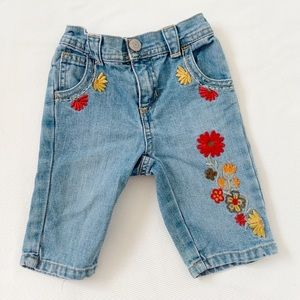 ★ OLD NAVY | FLORAL EMBROIDERED CUTE JEAN PANTS